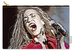 Carry-all Pouch featuring the digital art Amanda Marshall by Pennie McCracken