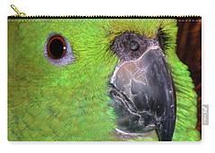 Carry-all Pouch featuring the photograph Amazon Parrot by Debbie Stahre