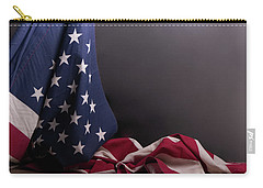 American Flag Draped On Itself Carry-all Pouch