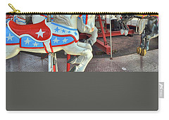 Carry-all Pouch featuring the photograph American Horses by Jamart Photography
