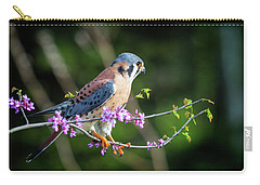 Carry-all Pouch featuring the photograph American Kestrel 5151804 by Rick Veldman