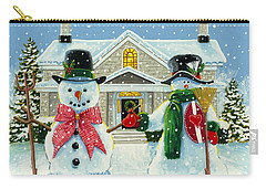 American Snowman Gothic Carry-all Pouch