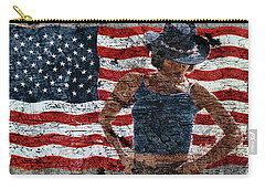 Carry-all Pouch featuring the photograph American Woman Composite by John Rodrigues