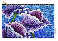 Carry-all Pouch featuring the painting Amethysts Afloat by Amy E Fraser