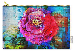 Carry-all Pouch featuring the mixed media Amidst The Chaos by Sabine ShintaraRose