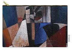 Carry-all Pouch featuring the painting An Fear Lies An Gitar by Val Byrne