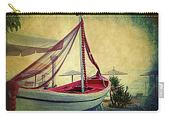 Carry-all Pouch featuring the photograph an Old Boat by Milena Ilieva