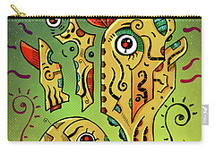 Carry-all Pouch featuring the digital art Ancient Spirit by Sotuland Art