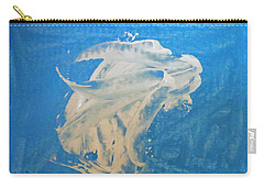 Angel And Dolphin Riding The Waves Carry-all Pouch