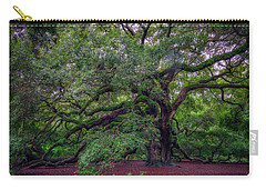Carry-all Pouch featuring the photograph Angel Oak Tree by Rick Berk