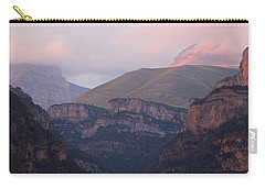 Carry-all Pouch featuring the photograph Anisclo Canyon Sunset by Stephen Taylor