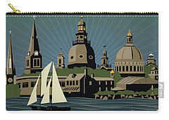 Annapolis Steeples And Cupolas Serenity With Border Carry-all Pouch