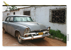Carry-all Pouch featuring the photograph Antique Car Grey Cuba 11300501 by Rick Veldman