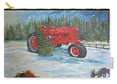 Antique Tractor At The Christmas Tree Farm Carry-all Pouch