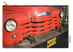 Carry-all Pouch featuring the photograph Antique Truck Red Cuba 11300502 by Rick Veldman