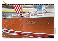 Carry-all Pouch featuring the photograph Antique Wooden Boat 1305 by Rick Veldman