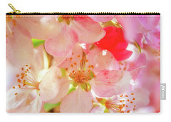Apple Blossoms Textures Carry-all Pouch