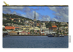 Carry-all Pouch featuring the photograph Approaching Fort De France by Tony Murtagh