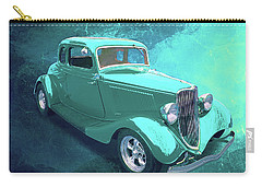 Aqua 1934 Ford Carry-all Pouch