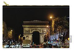 Carry-all Pouch featuring the photograph Arc De Triomphe by Randy Scherkenbach