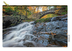 Carry-all Pouch featuring the photograph Arch Bridge At Vaughan Woods by Rick Berk