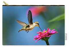 Carry-all Pouch featuring the photograph Art Of Hummingbird Flight by Christina Rollo