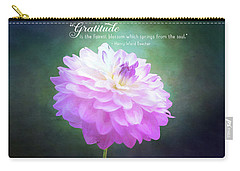 Pink Dahlia Gratitude Artwork Carry-all Pouch