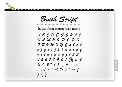 Brush Script - Most Wanted Carry-all Pouch
