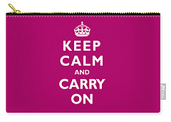 Keep Calm And Carry On Photographs Carry-All Pouches
