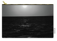 Aruba Sunset In Black And White Carry-all Pouch