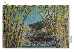 Aspen Trees And Fisherman Carry-all Pouch