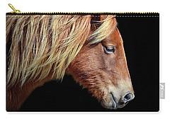 Assateague Pony Sarah's Sweet Tea Portrait On Black Carry-all Pouch