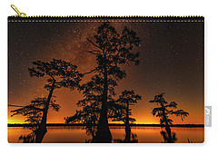 Carry-all Pouch featuring the photograph Atchafalaya Basin On Fire by Andy Crawford