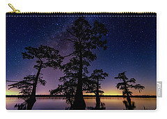Carry-all Pouch featuring the photograph Atchafalaya Basin Under The Miky Way by Andy Crawford