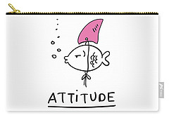 Attitude - Baby Room Nursery Art Poster Print Carry-all Pouch