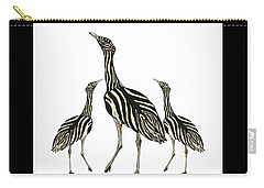 Australian Bustard Zebra 3 Carry-all Pouch