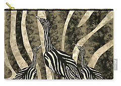 Australian Bustard Zebra 4 Carry-all Pouch