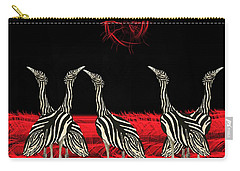 Australian Bustard Zebra 6 Carry-all Pouch