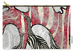 Australian Bustard Zebra 8 Carry-all Pouch
