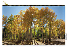Carry-all Pouch featuring the digital art Autumn Blaze Outside Of Crested Butte, Colorado.  by OLena Art Brand