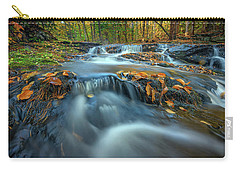 Carry-all Pouch featuring the photograph Autumn Cascade In Vaughan Woods by Rick Berk
