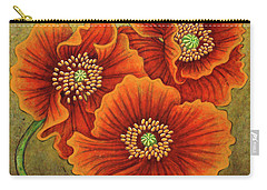 Carry-all Pouch featuring the painting Autumn Encroaches by Amy E Fraser