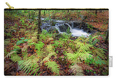 Carry-all Pouch featuring the photograph Autumn Fern by Bill Wakeley
