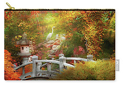 Carry-all Pouch featuring the photograph Autumn - Finding Inner Peace by Mike Savad