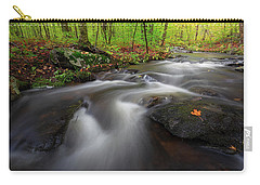 Carry-all Pouch featuring the photograph Autumn Flow by Bill Wakeley