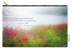 Autumn Fog On Eagle Lake Gratitude Art Carry-all Pouch