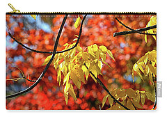 Carry-all Pouch featuring the photograph Autumn Foliage In Bar Harbor, Maine by Bill Swartwout Fine Art Photography
