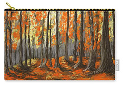 Carry-all Pouch featuring the painting Autumn Forest by Anastasiya Malakhova