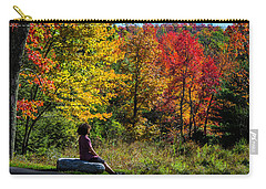 Autumn Leaves In The Catskill Mountains Carry-all Pouch