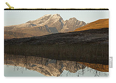 Carry-all Pouch featuring the photograph Autumn Meets Winter At Blaven by Stephen Taylor